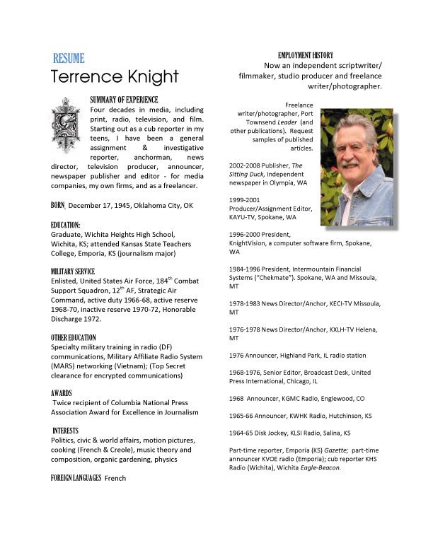 View resume of Terrence Knight