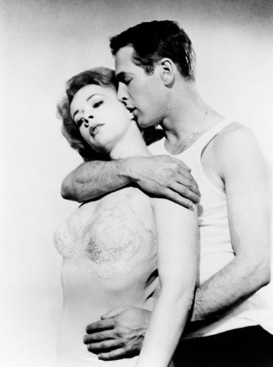 Piper Laurie and Paul Newman in 'The Hustler'
